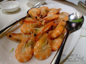 Cantonese-style Fresh Sunken Shrimp at TAO YUAN Restaurant