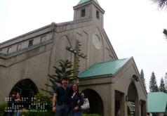 Dad and Mom at Pink Sisters' Convent, Tagaytay City