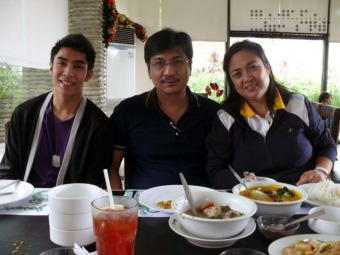 Kevin, Dad, and Mom