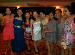 The Bride with Her Girl Friends