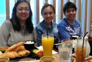 Mom, Jae, and Roi at Yabu: The House of Katsu, SM Mall of Asia