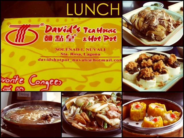Lunch at David's Tea House & Hot Pot, Nuvali