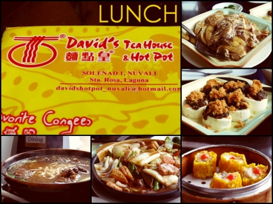 Lunch at David's Tea House & Hot Pot, Nuvali