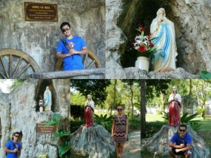 Photo-op with Mama Mary and St. Agnes