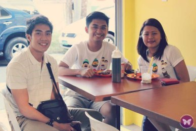Kevin with his high school friend, Kep and his girlfriend